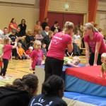 Børnene hygger sig i Skensved Gymnastik
